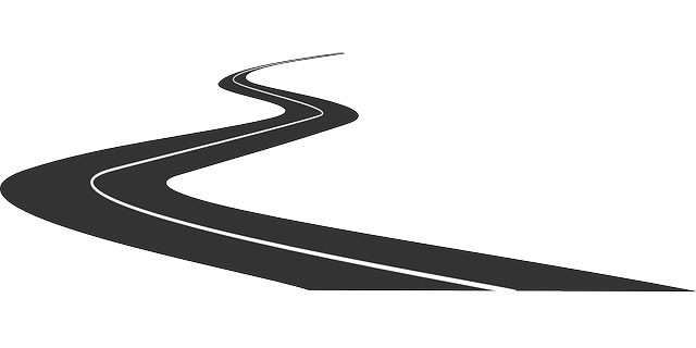 Drawing of a road