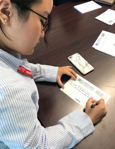 Student Filling Out Card