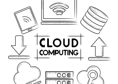 Cloud Computing Coloring Page